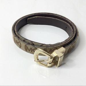 Michael Kors MK Gold Logo Belt